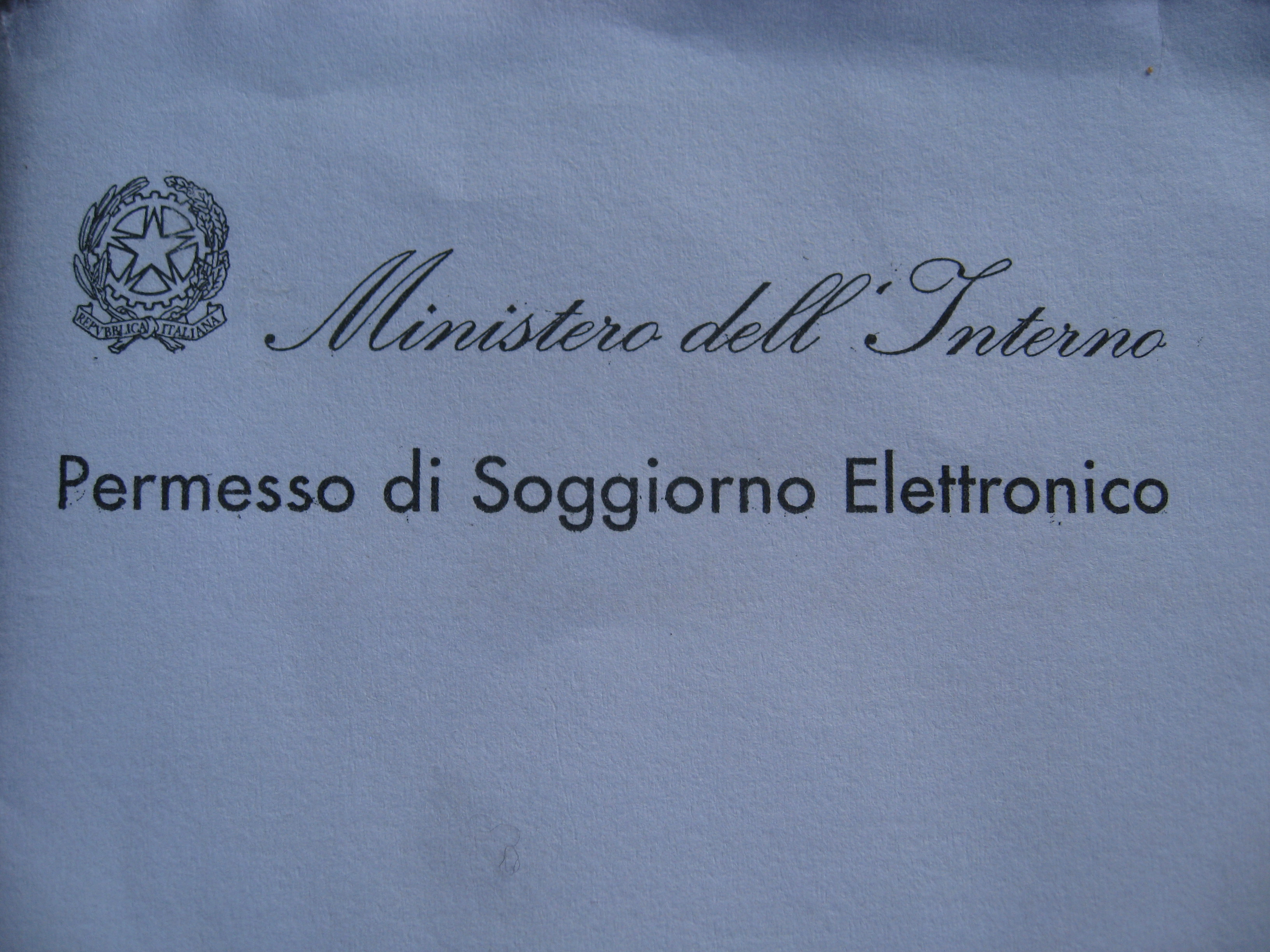 Permesso di Soggiorno – Working Holiday visas | Tali Goes ...